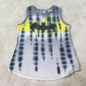 DC Comics Tie Dyed Batman Batgirl Tank Top